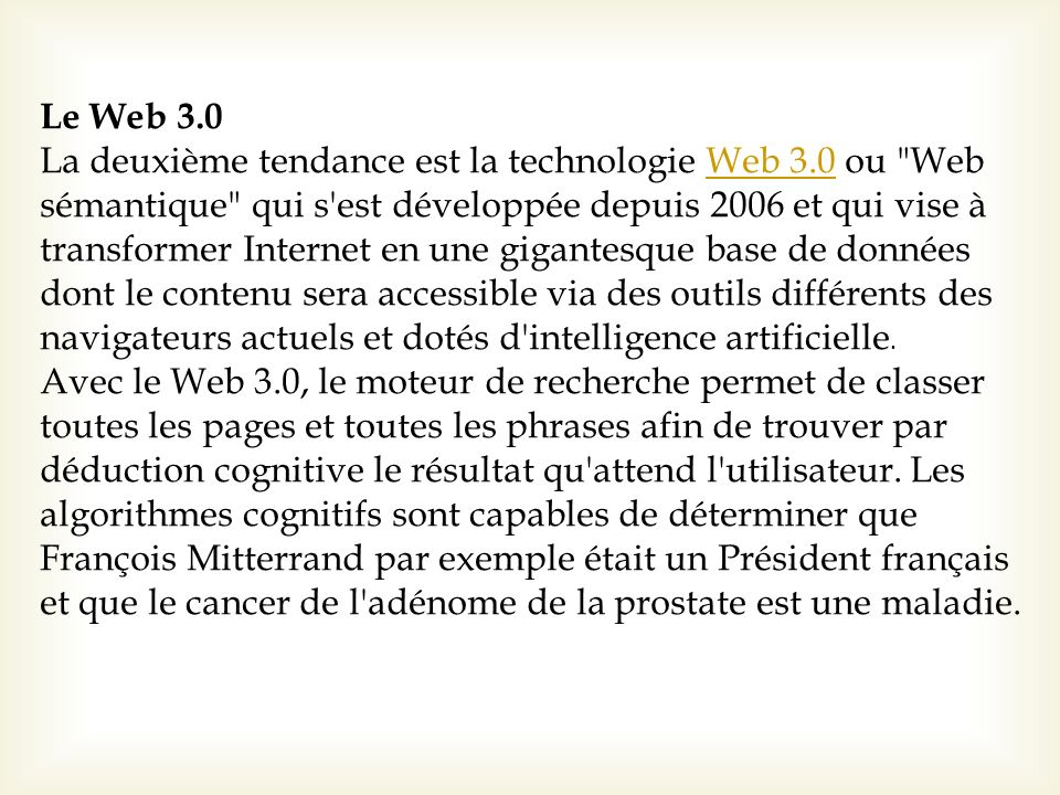 Le Web 3.0