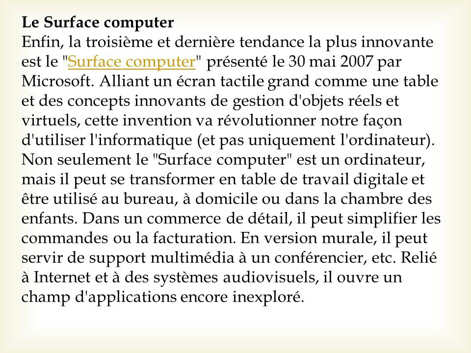 Le Surface computer