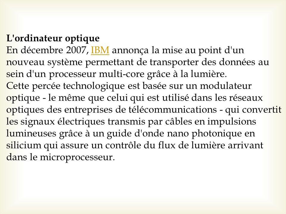 L ordinateur optique