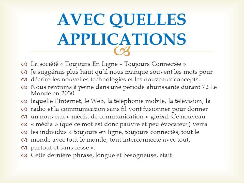 AVEC QUELLES APPLICATIONS