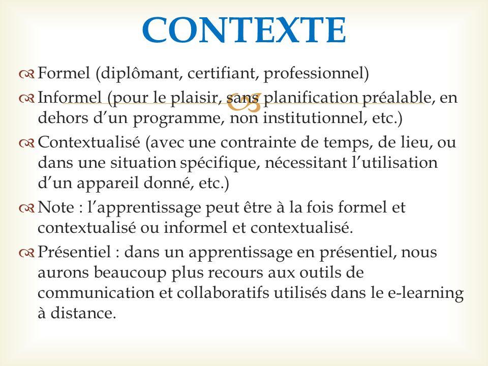 CONTEXTE Formel (diplômant, certifiant, professionnel)