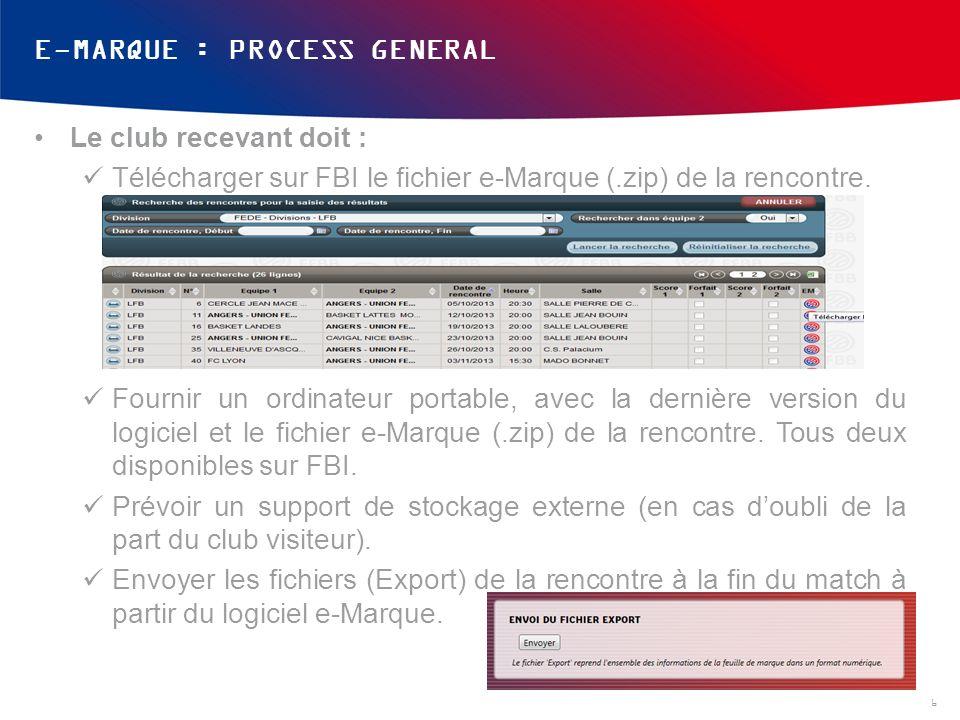 E-MARQUE : PROCESS GENERAL