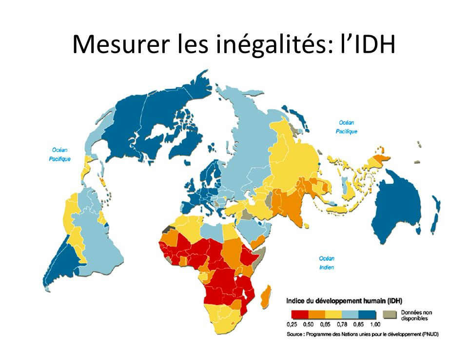 Mesurer les inégalités: l'IDH