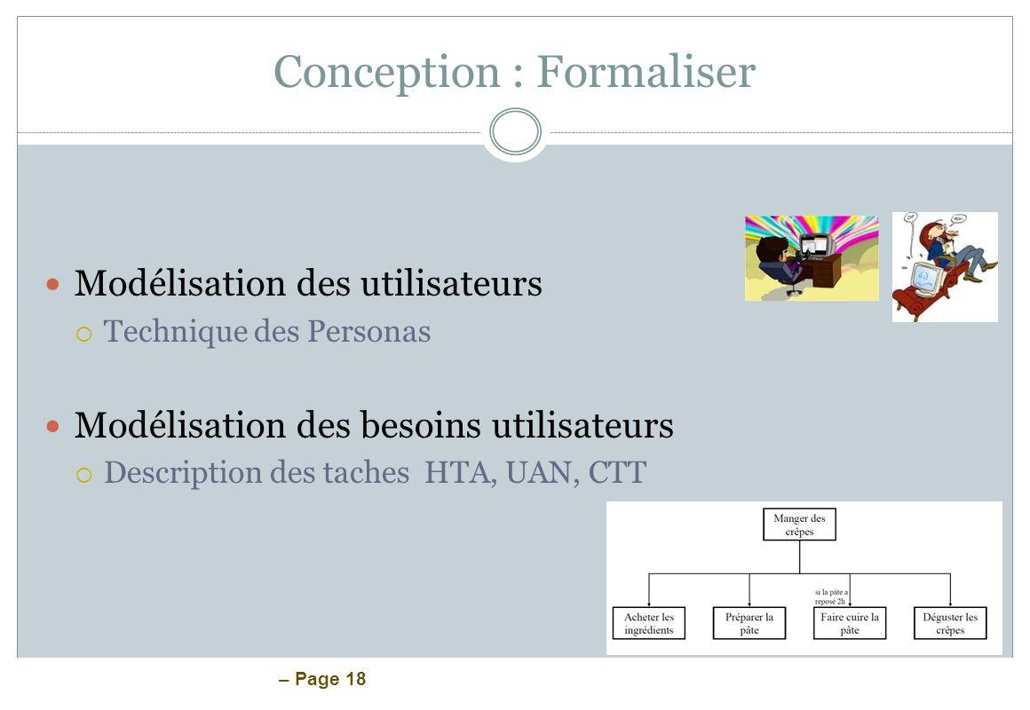 Conception : Formaliser