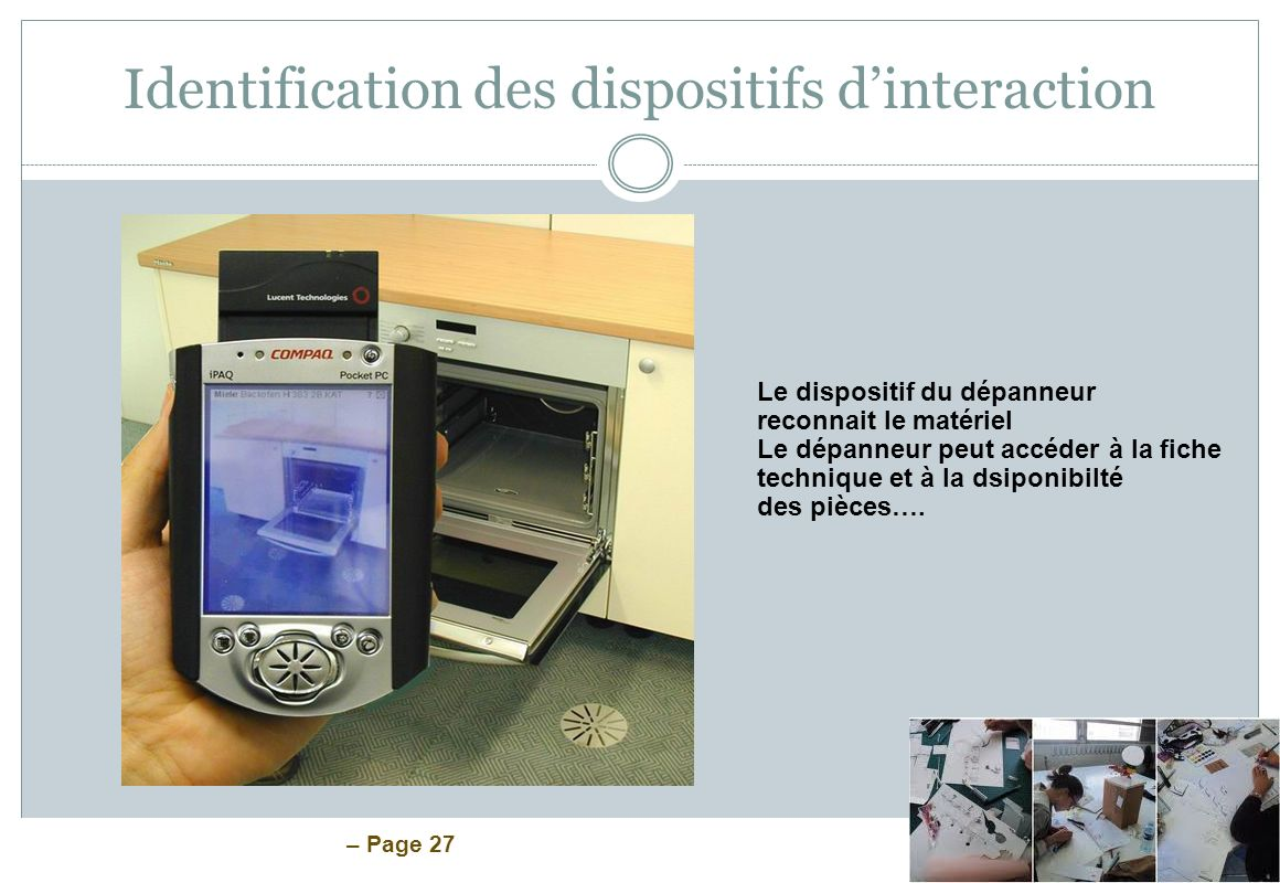 Identification des dispositifs d'interaction