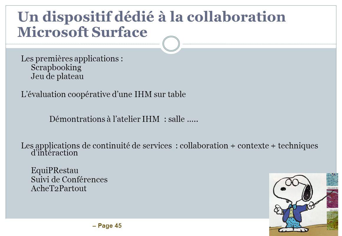 Un dispositif dédié à la collaboration Microsoft Surface
