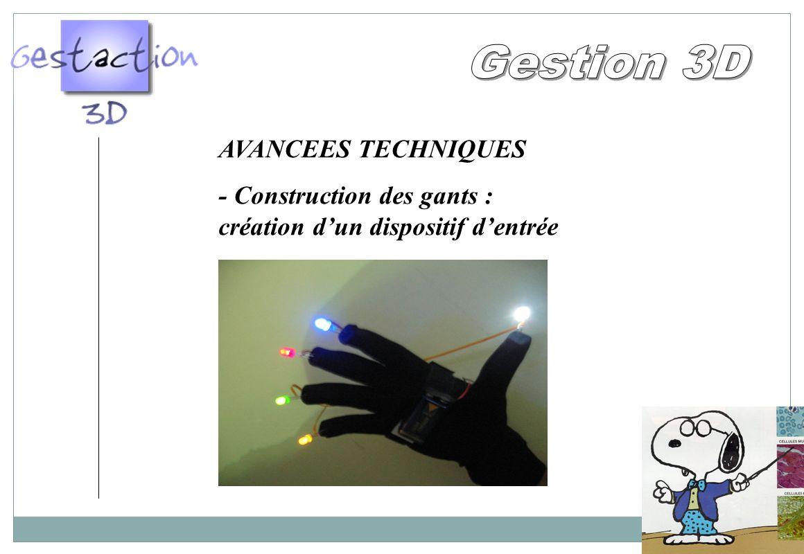 Gestion 3D AVANCEES TECHNIQUES