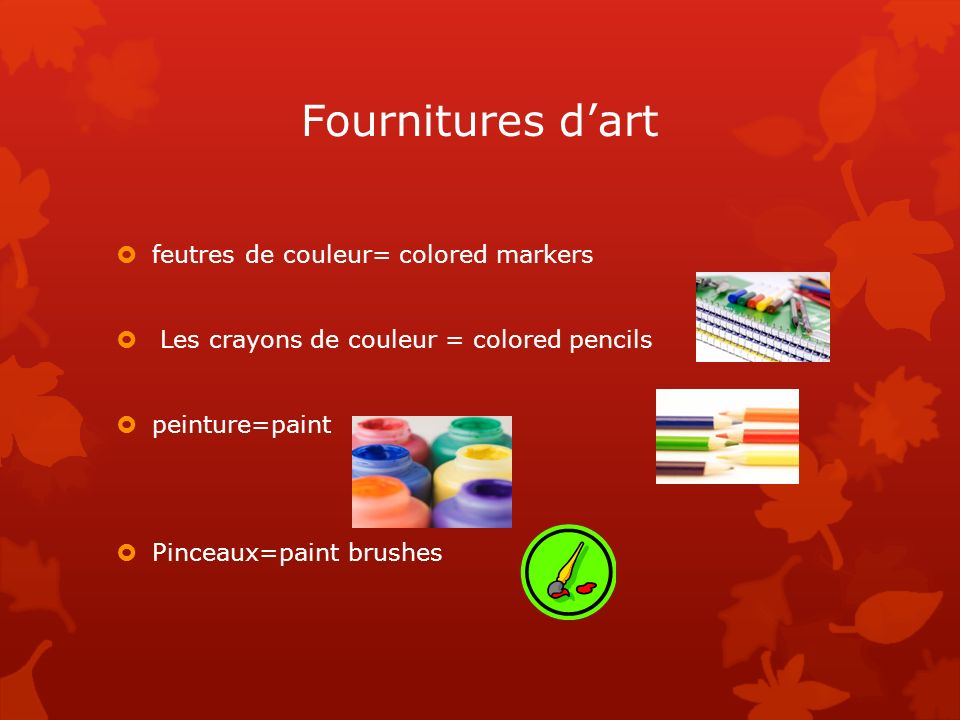 Fournitures d'art feutres de couleur= colored markers