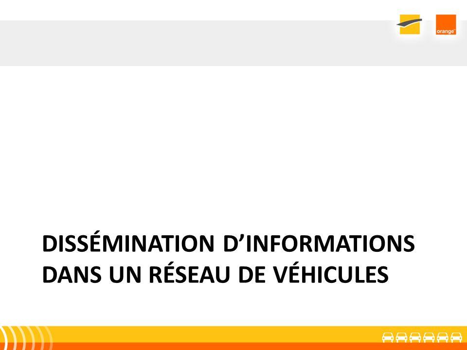 Dissémination d'informations dans un réseau de véhicules