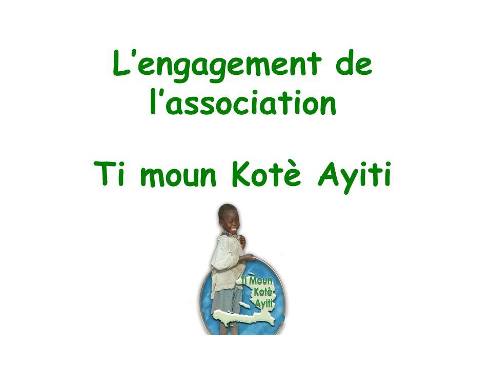 L'engagement de l'association Ti moun Kotè Ayiti