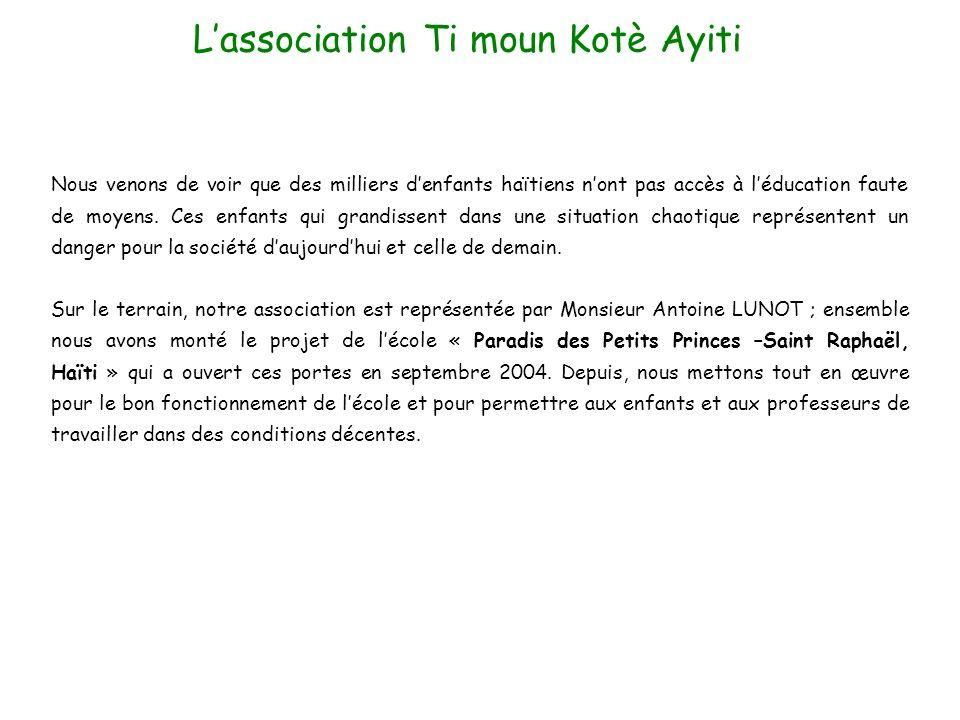 L'association Ti moun Kotè Ayiti
