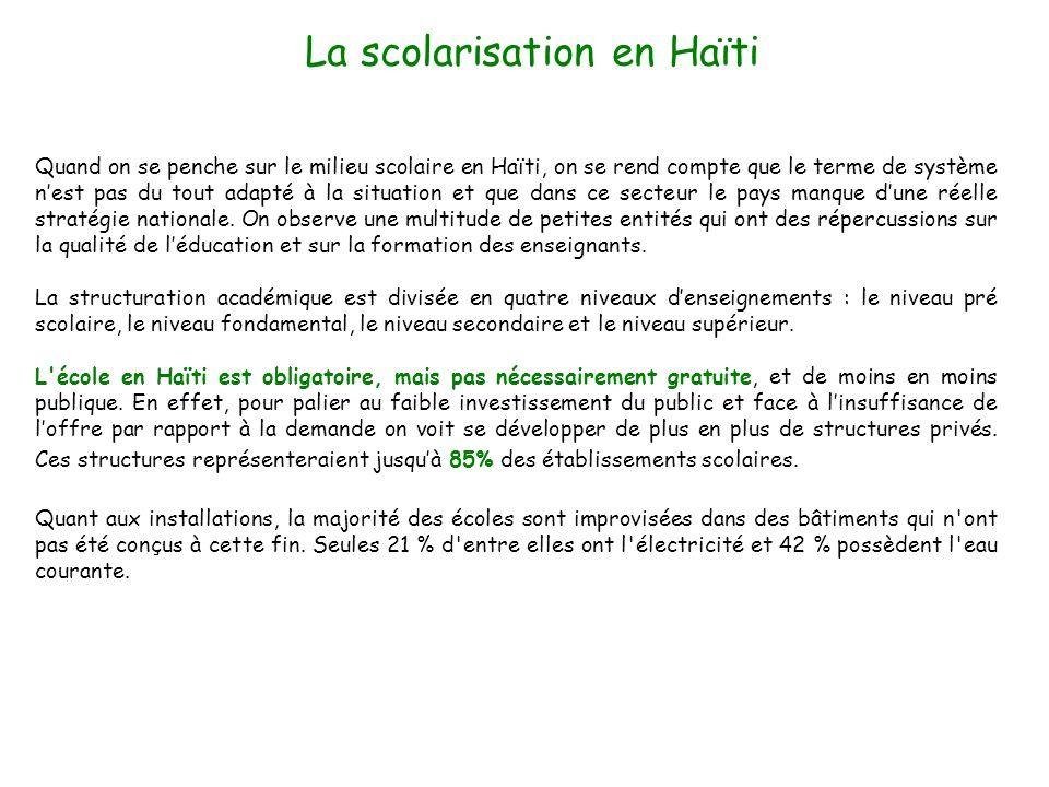La scolarisation en Haïti