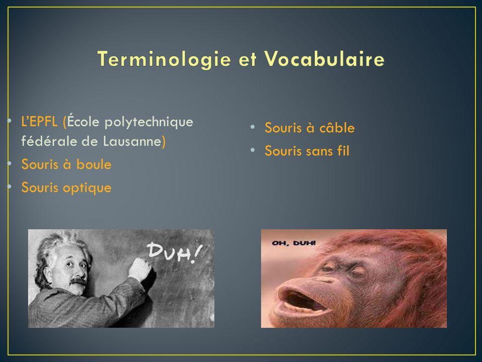 Terminologie et Vocabulaire