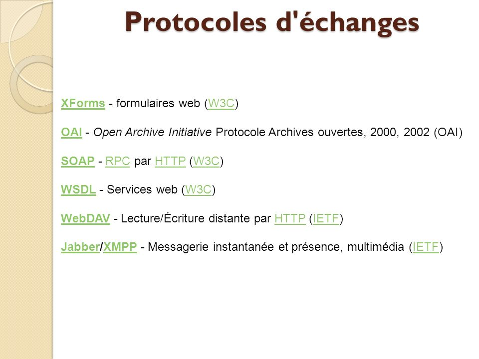 Protocoles d échanges XForms - formulaires web (W3C)