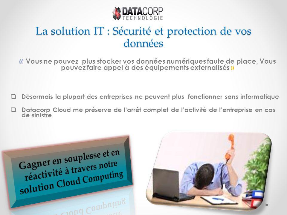 La solution IT : Sécurité et protection de vos données