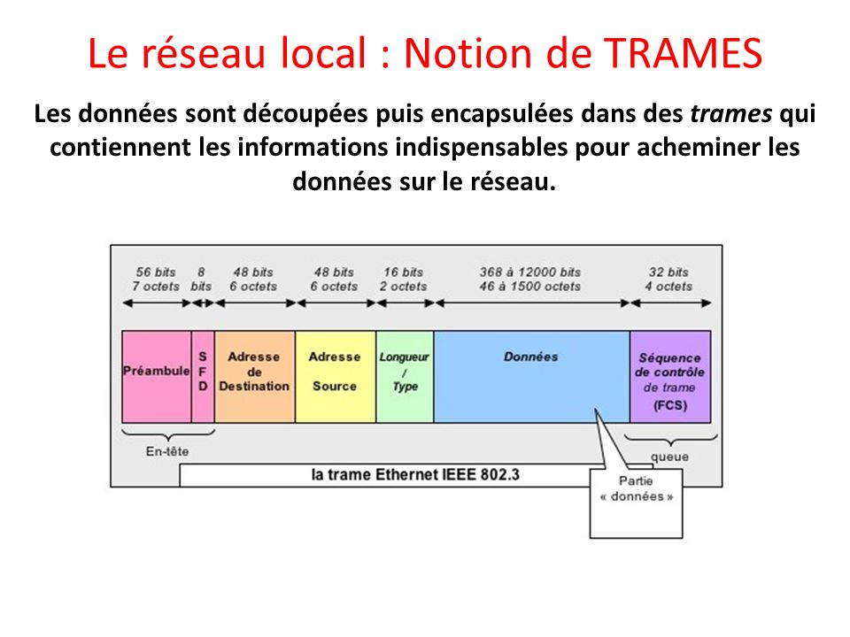 Le réseau local : Notion de TRAMES