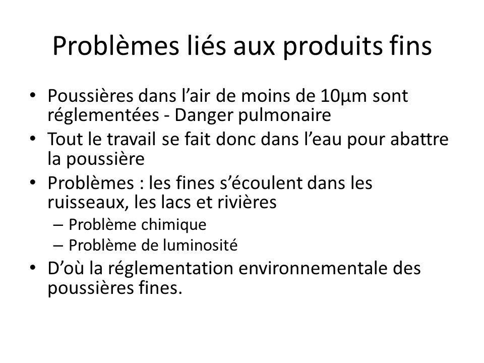 Problèmes liés aux produits fins
