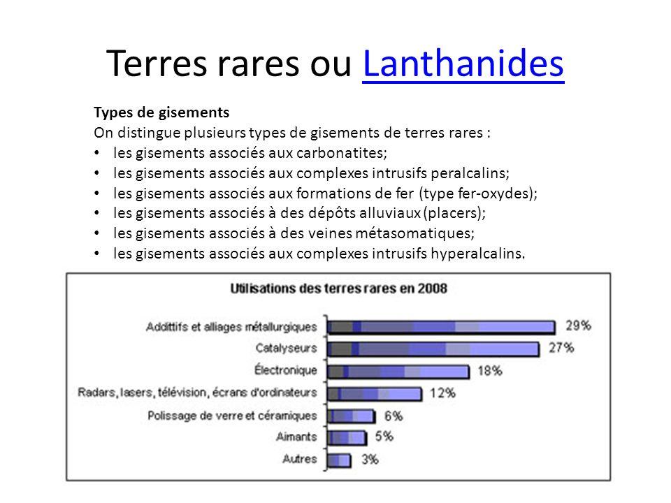 Terres rares ou Lanthanides