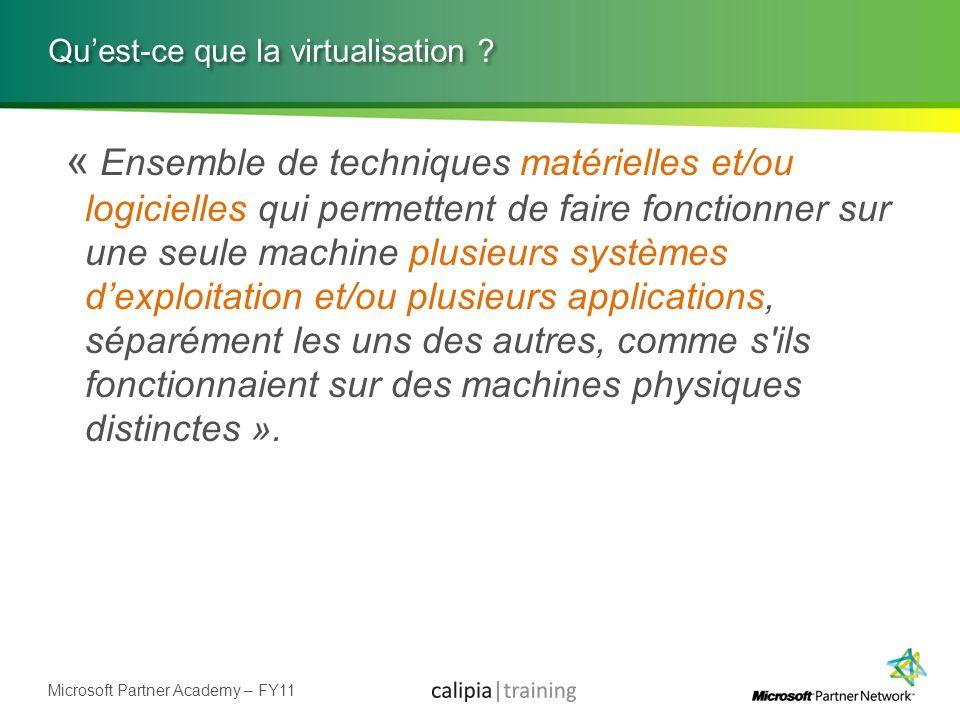 Qu'est-ce que la virtualisation
