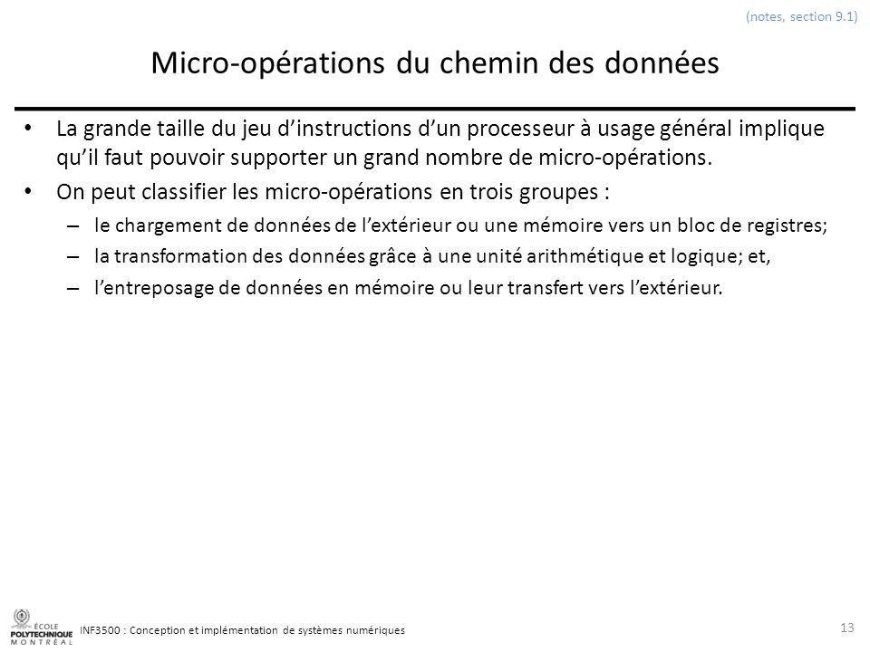 Micro-opérations du chemin des données