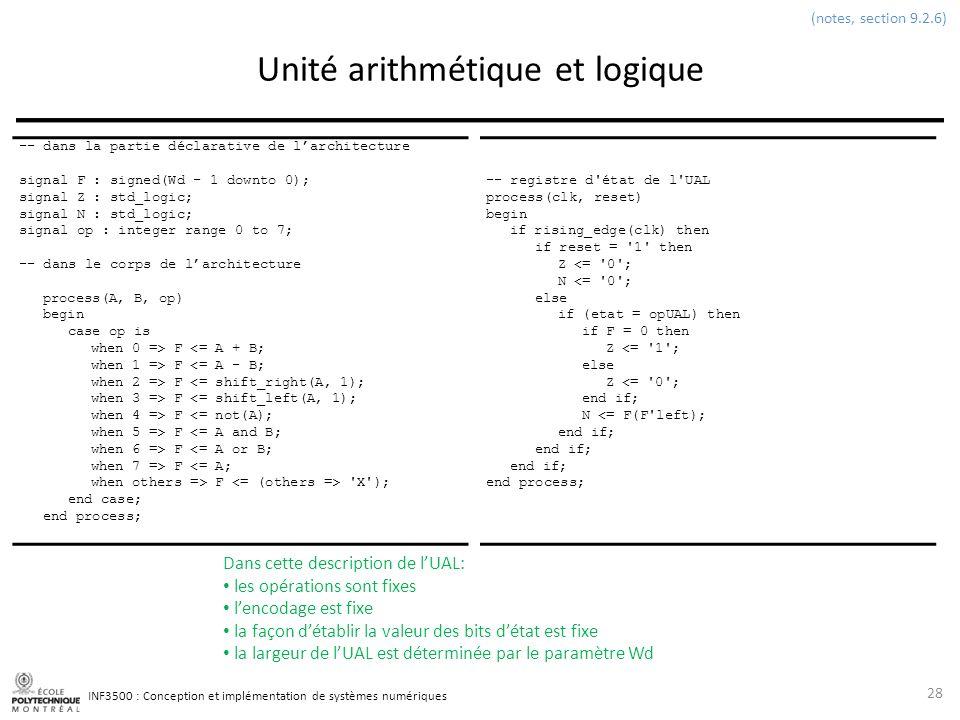 Unité arithmétique et logique