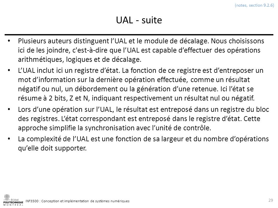 (notes, section 9.2.6) UAL - suite.