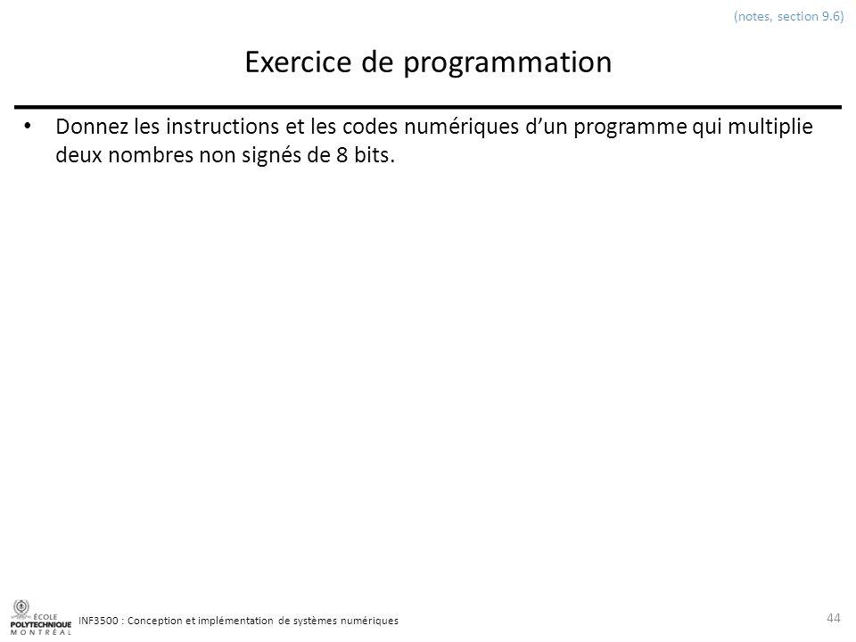 Exercice de programmation