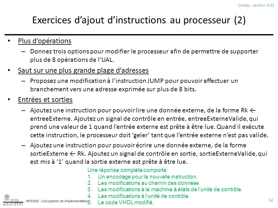 Exercices d'ajout d'instructions au processeur (2)