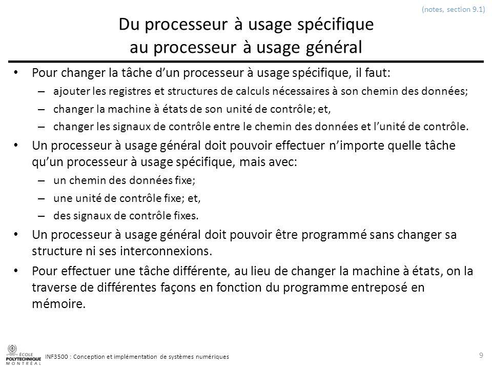 Du processeur à usage spécifique au processeur à usage général