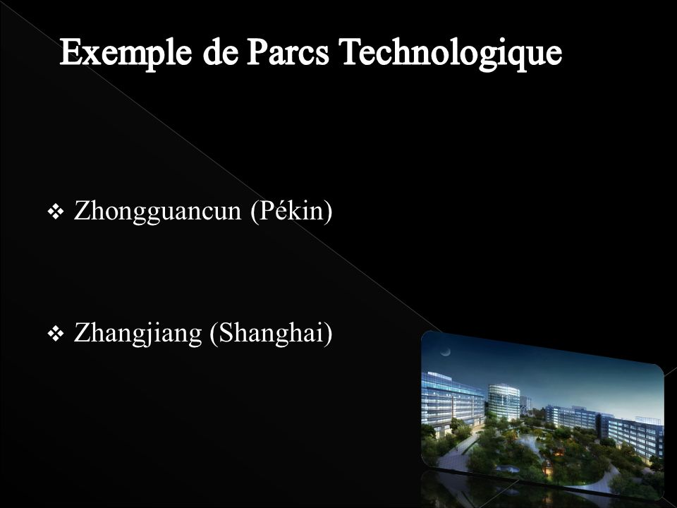 Exemple de Parcs Technologique