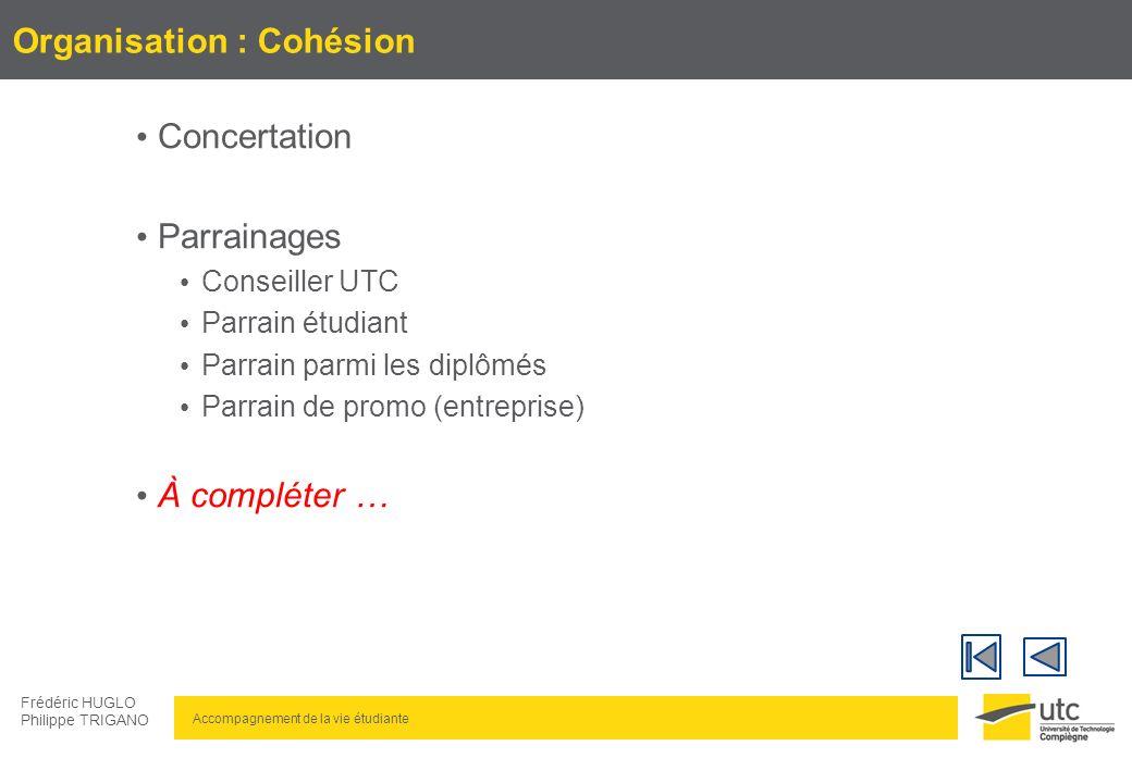 Organisation : Cohésion