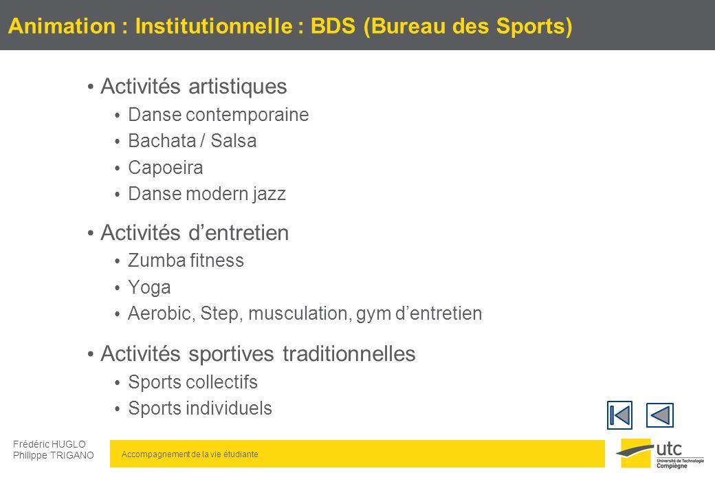 Animation : Institutionnelle : BDS (Bureau des Sports)