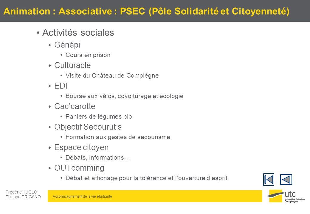 Animation : Associative : PSEC (Pôle Solidarité et Citoyenneté)