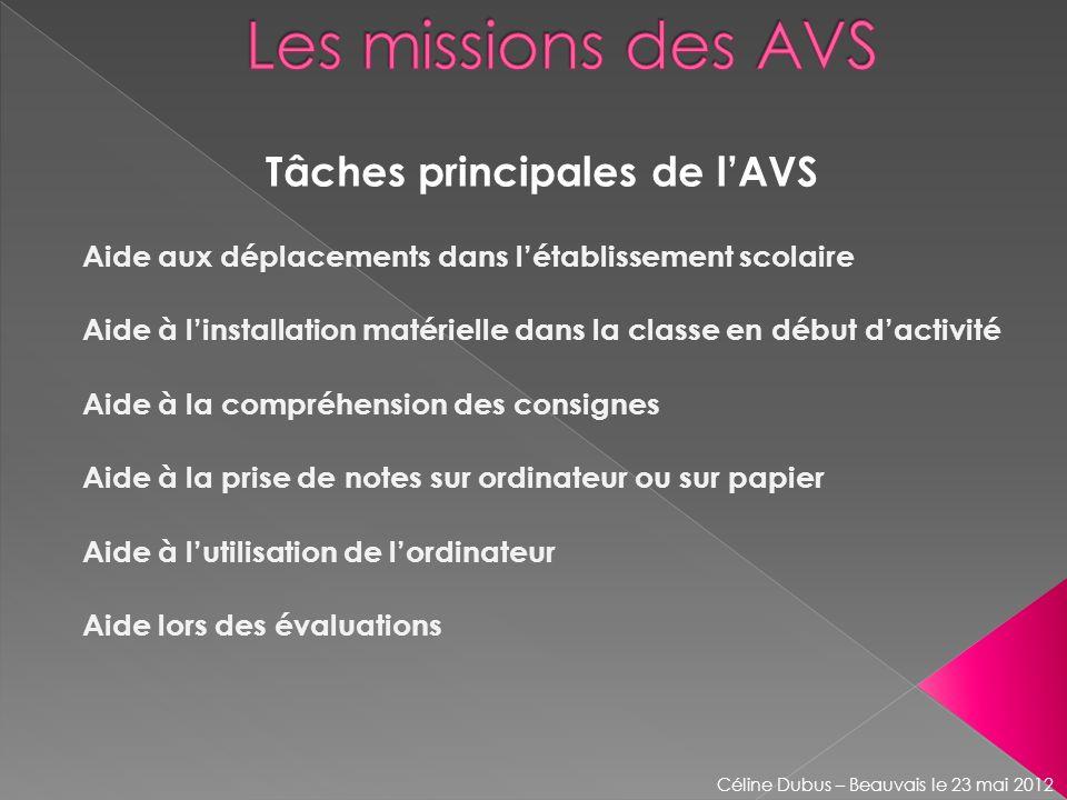 Tâches principales de l'AVS