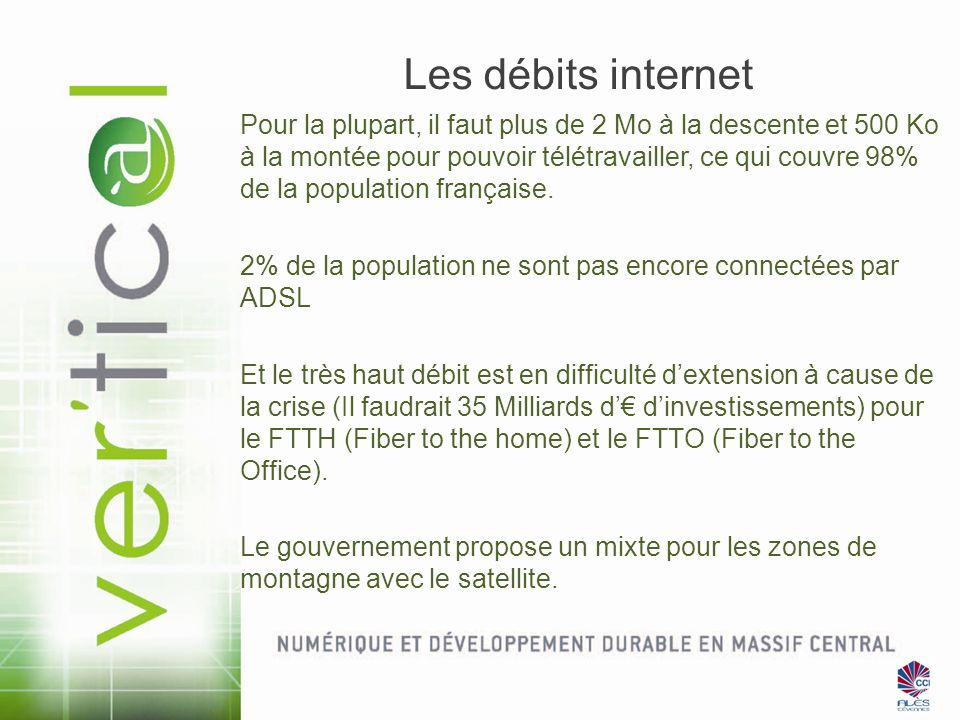 Les débits internet