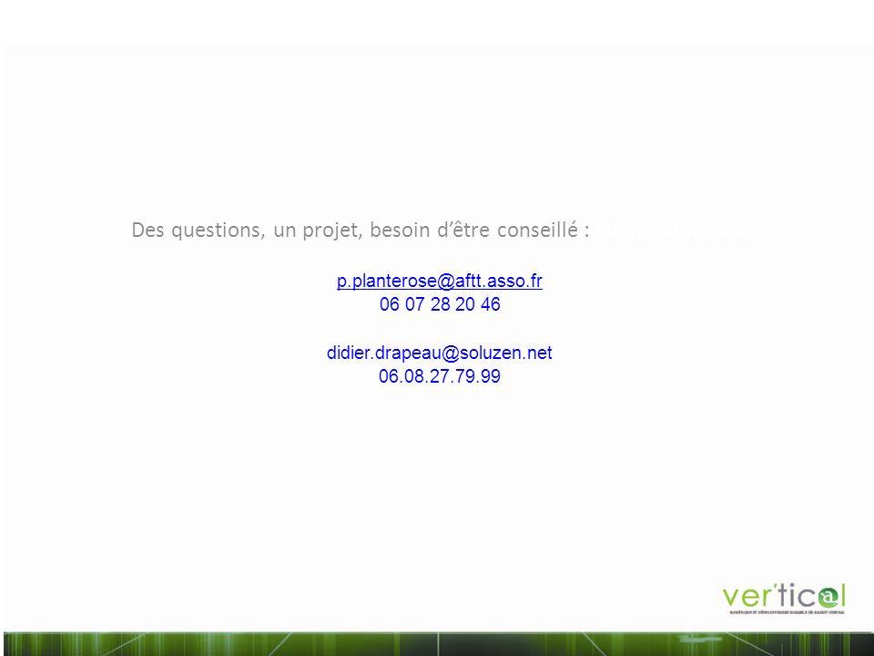 Des questions, un projet, besoin d'être conseillé : Didier Drapeau