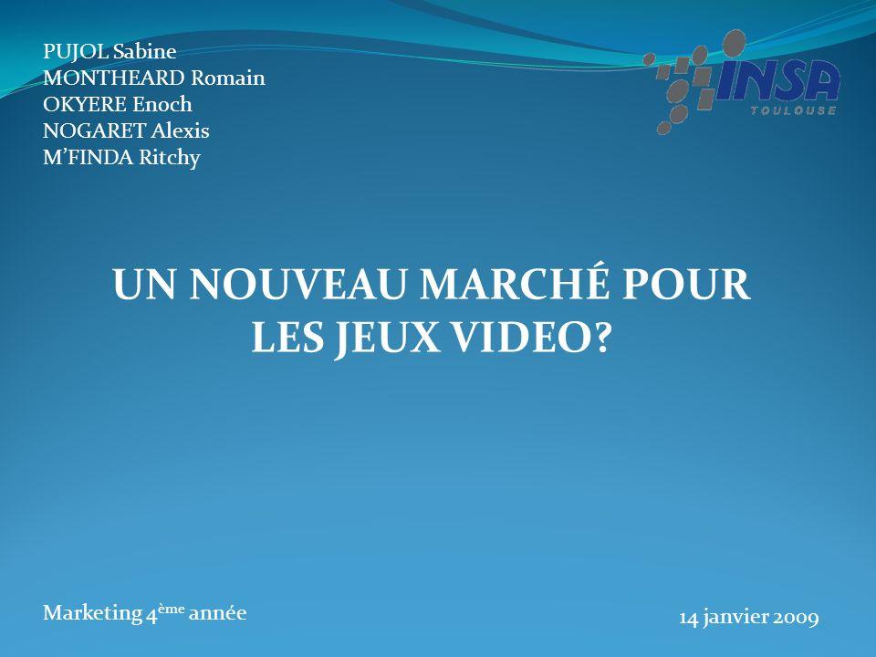 UN NOUVEAU MARCHÉ POUR LES JEUX VIDEO