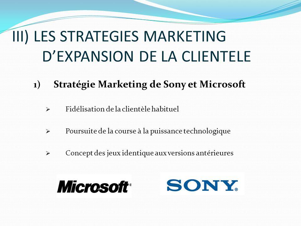 III) LES STRATEGIES MARKETING D'EXPANSION DE LA CLIENTELE