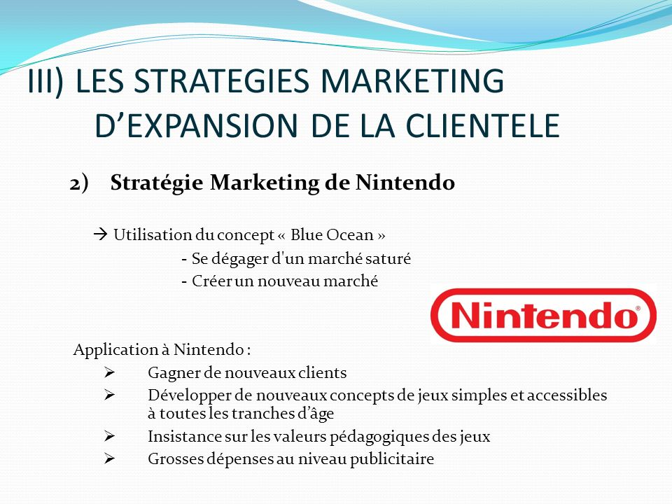 marketing analysis for nintendo Nintendo is the 'cheapest game stock in the world' according to jefferies  who used to be in-charge of corporate analysis and marketing, president.