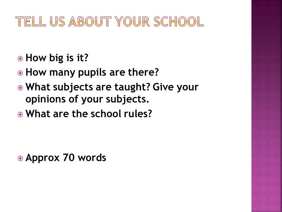 Tell us about your school