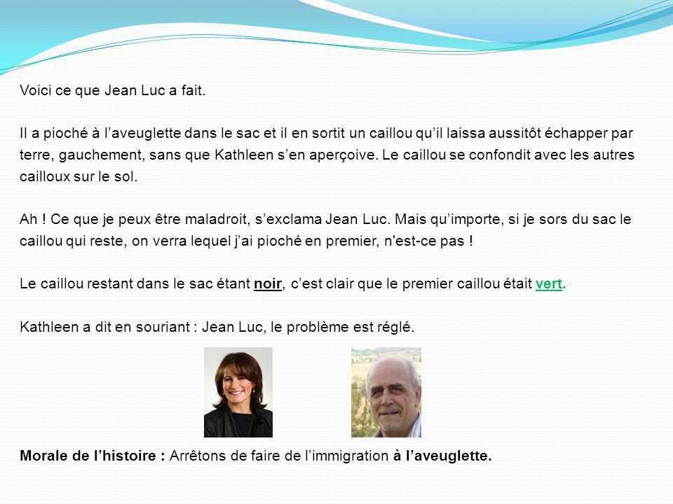Voici ce que Jean Luc a fait.