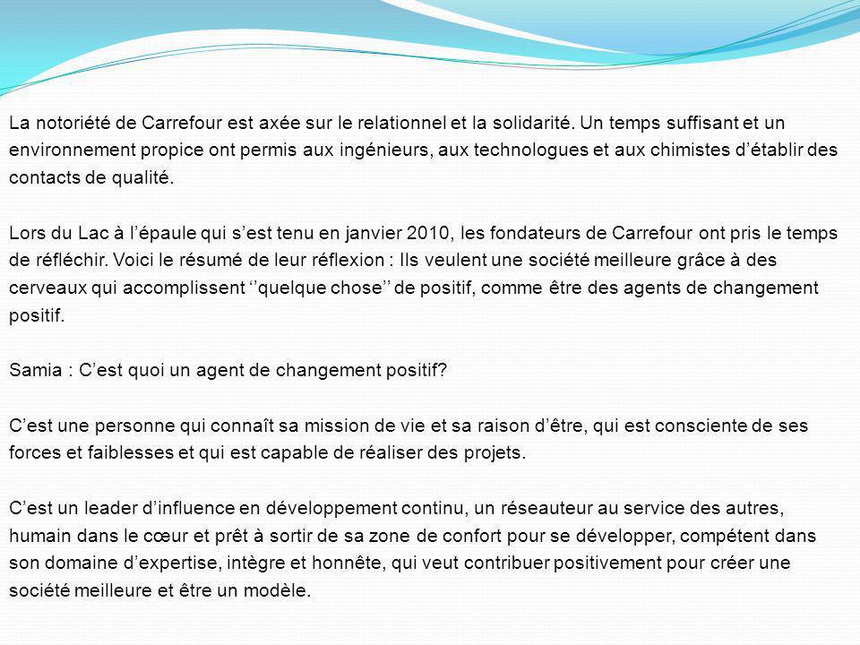 La notoriété de Carrefour est axée sur le relationnel et la solidarité