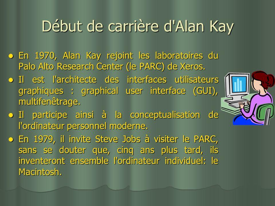 Début de carrière d Alan Kay