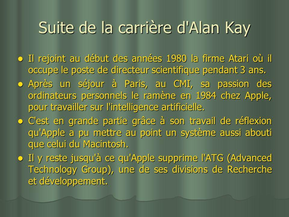 Suite de la carrière d Alan Kay