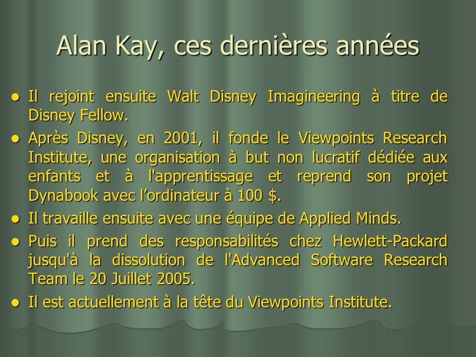Alan Kay, ces dernières années