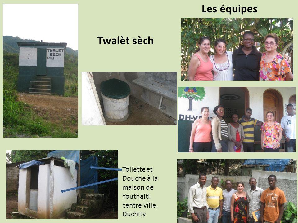 Les équipes Twalèt sèch Toilette et Douche à la maison de Youthaiti,