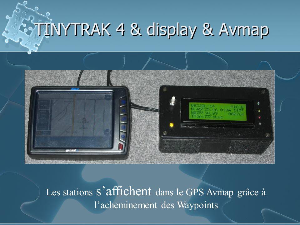 TINYTRAK 4 & display & Avmap
