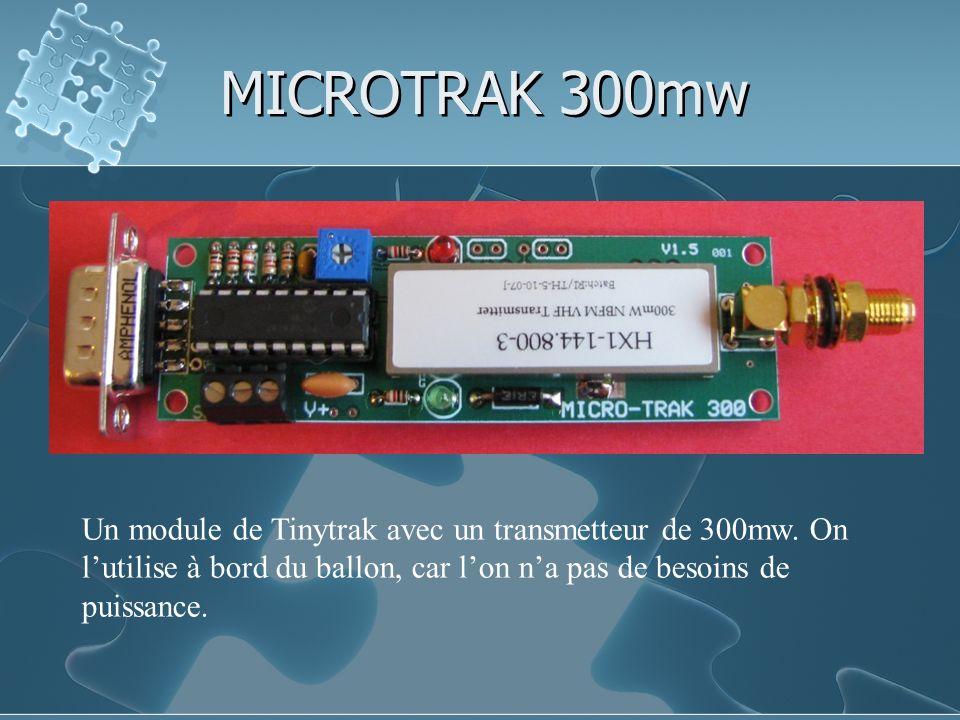 MICROTRAK 300mw Un module de Tinytrak avec un transmetteur de 300mw.