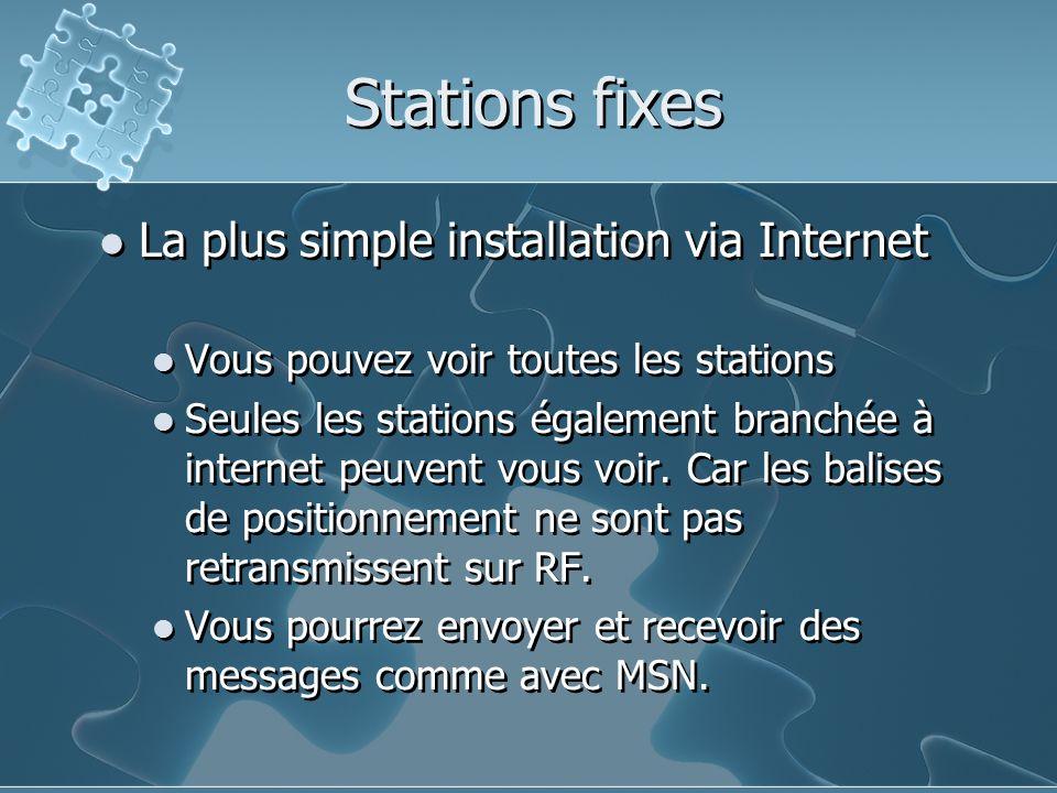 Stations fixes La plus simple installation via Internet