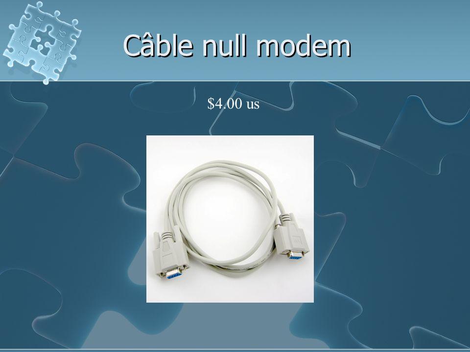 Câble null modem $4.00 us